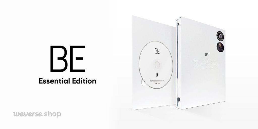 เปรียบเทียบส่วนประกอบต่างๆ ระหว่างอัลบั้ม BE 'Deluxe Edition' และ 'Essential Edition'