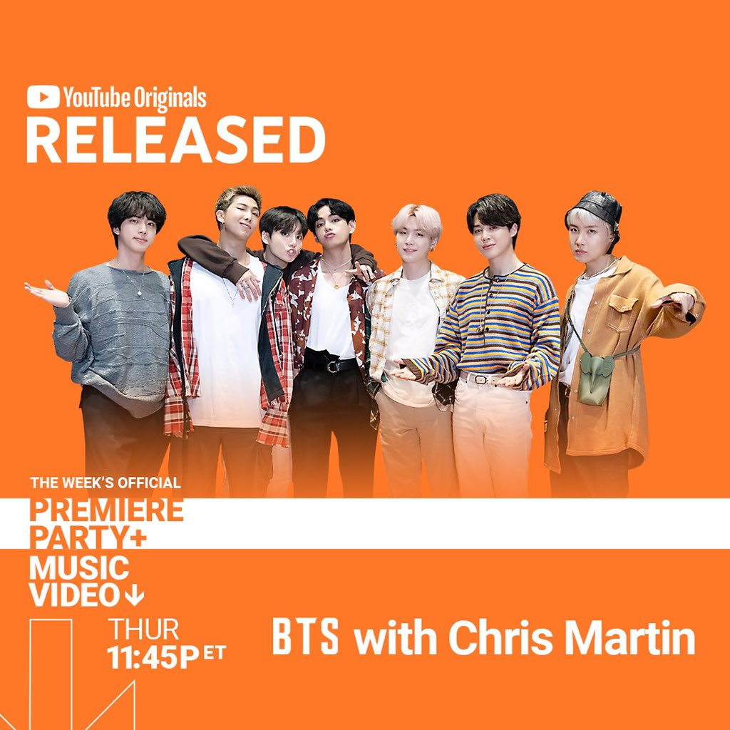 BTS with Chris Martin + Compilation Video Drop on RELEASED
